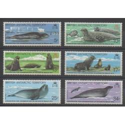 Grande-Bretagne - Territoire antarctique - 1983 - No 118/123 - Environnement - Vie marine