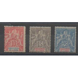 Inde - 1900 - No 14/16 - Neuf avec charnière