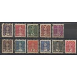 Guinée - 1938 - No T26/T36 - Neuf avec charnière