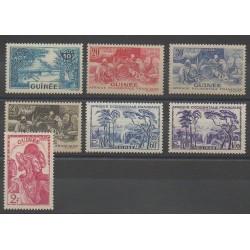 Guinée - 1943 - No 178/184 - Neuf avec charnière