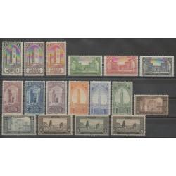 Morocco - 1917 - Nb 63/79 - Mint hinged