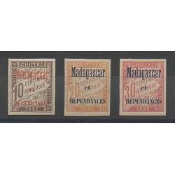 Madagascar - 1896 - No T2/T4 - Neuf avec charnière