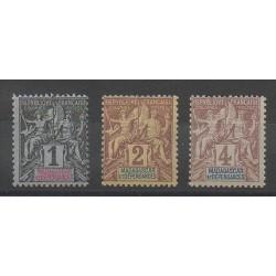Madagascar - 1896 - Nb 28/30