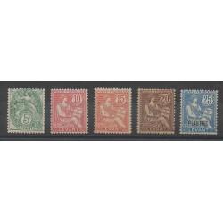 Levant - 1902 - Nb 13/17