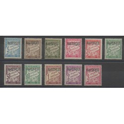 Martinique - 1927 - Nb T1/T11 - Mint hinged