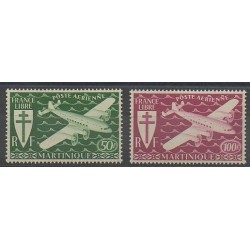 Martinique - 1945 - Nb PA4/PA5