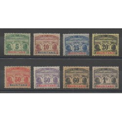 Mauritania - 1906 - Nb T9/T16 - Mint hinged