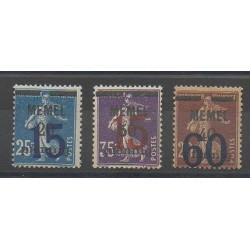 Memel - 1921 - Nb 39/41