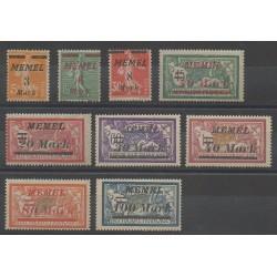 Memel - 1922 - Nb 86/94