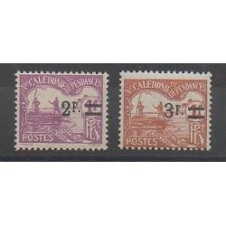 Nouvelle-Calédonie - 1926 - No T24/T25 - Neuf avec charnière