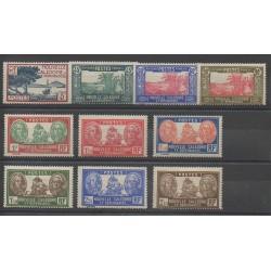 Nouvelle-Calédonie - 1939 - No 180/189 - Neuf avec charnière