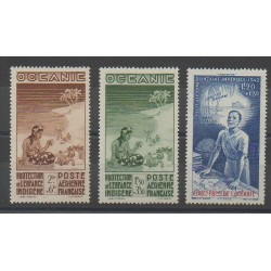 Océanie - 1942 - No PA4/PA6