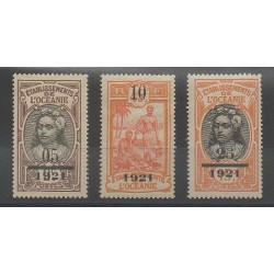 Océanie - 1921 - No 44/46 - Neuf avec charnière