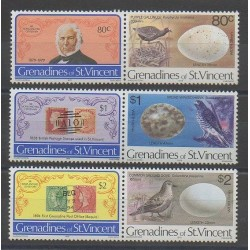 Saint Vincent (Grenadines) - 1979 - Nb 162a/164a - Stamps on stamps