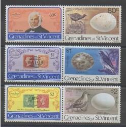 Saint-Vincent (Iles Grenadines) - 1979 - No 162a/164a - Timbres sur timbres - Oiseaux