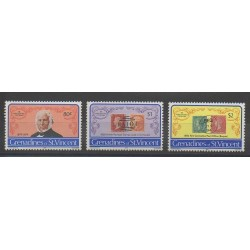 Saint-Vincent (Iles Grenadines) - 1979 - No 162/164 - Timbres sur timbres