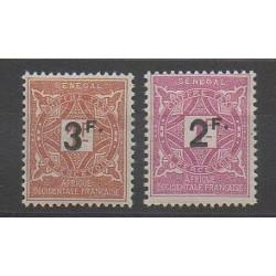 Sénégal - 1927 - No T20/T21 - Neuf avec charnière