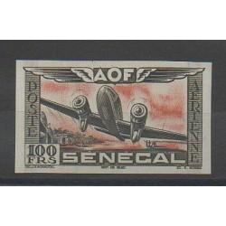 Sénégal - 1942 - No PA30 ND - Noir et rouge