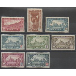 Sénégal - 1943 - No 179/186 - Neuf avec charnière