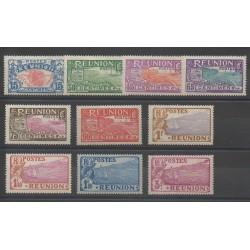 Réunion - 1928 - No 109/118 - Neuf avec charnière