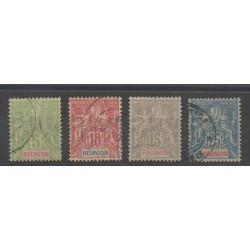 Réunion - 1900 - No 46/49 - Oblitéré