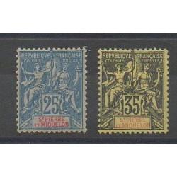 Saint Pierre and Miquelon - 1900 - Nb 75/76 - Mint hinged