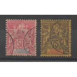 Saint-Pierre et Miquelon - 1892 - No 69/70 - Oblitéré