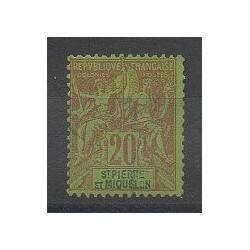 Saint-Pierre et Miquelon - 1892 - No 65 - Oblitéré