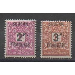 Soudan - 1927 - No T9/T10 - Neuf avec charnière