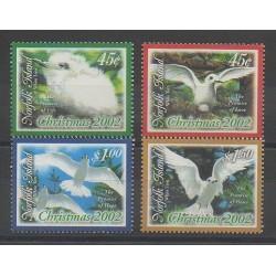 Norfolk - 2002 - No 763/766 - Oiseaux - Noël