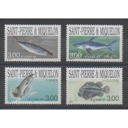Saint-Pierre et Miquelon - 1997 - No 646/649 - Poissons