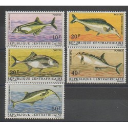 Central African Republic - 1971 - Nb 143/147 - Fishes