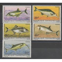 Centrafricaine (République) - 1971 - No 143/147 - Poissons