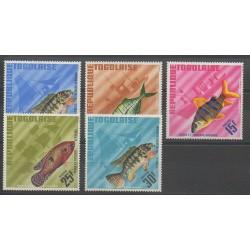 Togo - 1967 - No 515/519 - Poissons