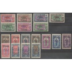 Chad - 1924 - Nb 19/36 - Mint hinged