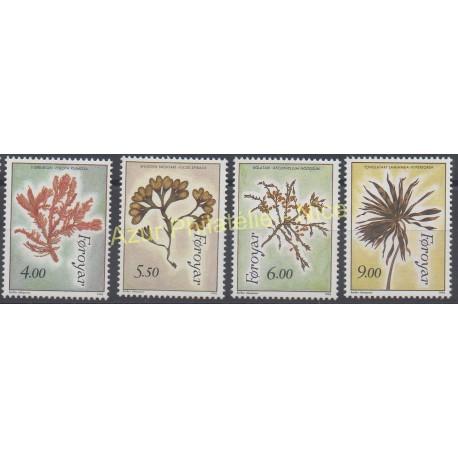 Stamps - Theme flora - Faroe (Islands) - 1996 - Nb 288/291