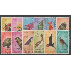 Grenadines - 1974 - No 3/14 - Oiseaux - Animaux divers
