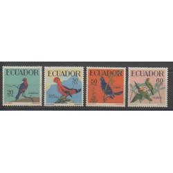 Équateur - 1958 - No 644/647 - Oiseaux