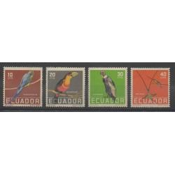 Équateur - 1958 - No 632/635 - Oiseaux