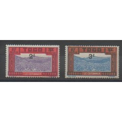 Togo - 1927 - Nb T20/T21 - Mint hinged