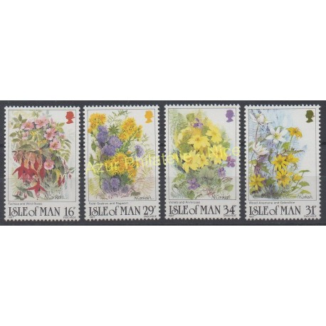 Man (Ile de) - 1987 - No 344/347 - Fleurs