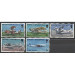 Guernsey - 1973 - Nb 74/78 - Planes