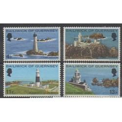 Guernsey - 1976 - Nb 124/127 - Lighthouses