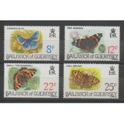Guernesey - 1981 - No 213/216 - Papillons