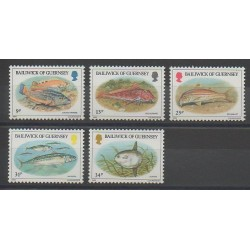 Guernsey - 1985 - Nb 316/320 - Fishes