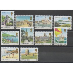 Guernesey - 1985 - No 327/336 - Monuments - Bateaux