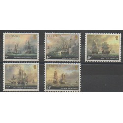 Guernsey - 1986 - Nb 354/358 - Boats