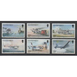 Guernsey - 1989 - Nb 455/460 - Planes