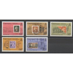 Guernsey - 1990 - Nb 489/493 - Stamps on stamps