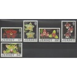 Jersey - 1988 - No 419/423 - Orchidées